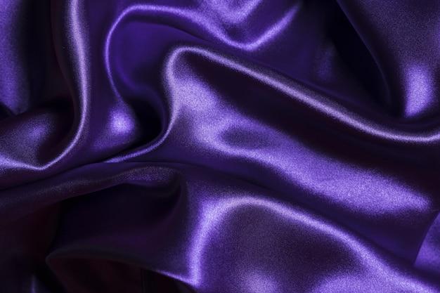 Tejido de seda de material violeta para la decoración del hogar
