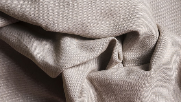 Tejido de seda monocromático arrugado