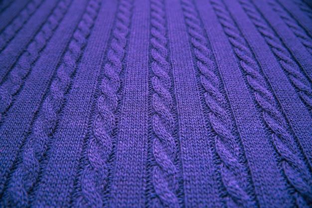 Tejido suave y cálido azul