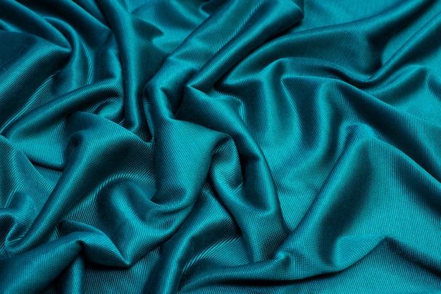 Tejido de viscosa turquesa textura de fondo