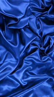 Tela de satén azul