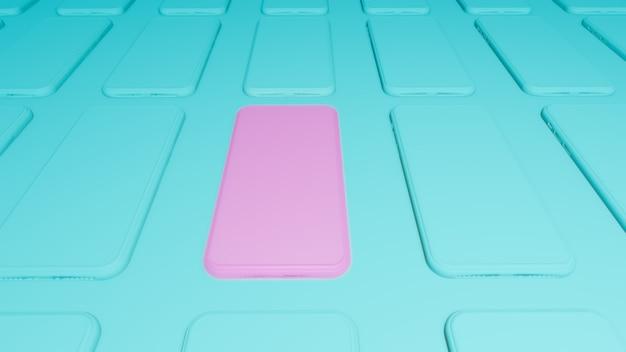 Teléfono inteligente 3d imitan para arriba.