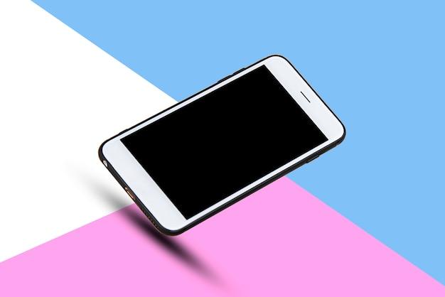 Teléfono inteligente móvil en tecnología de fondo