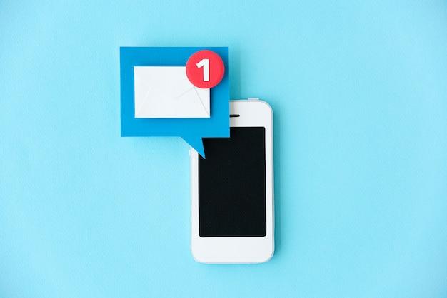 Teléfono móvil de papel artesanal