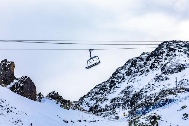 Telesillas de una pista de esquí
