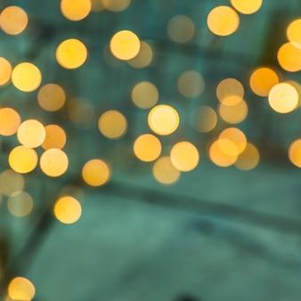 Telón de fondo de una luz bokeh iluminada