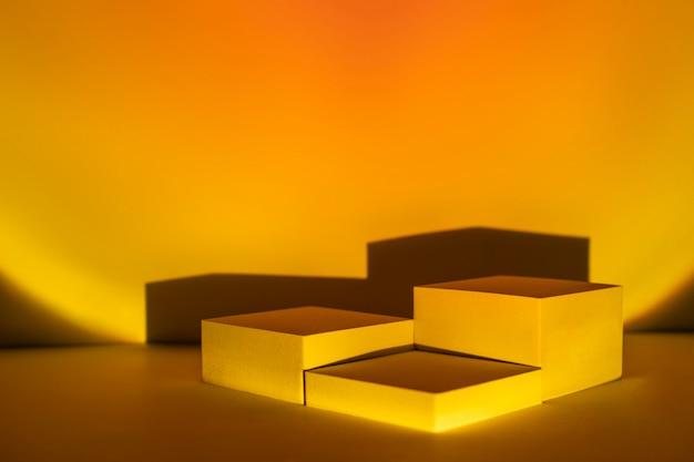 Telón de fondo de producto de lámpara de proyector al atardecer