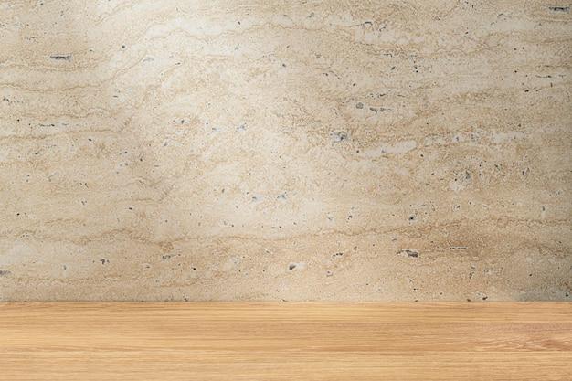 Telón de fondo de producto de piedra beige, escaparate