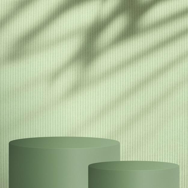 Telón de fondo de producto verde con espacio de diseño