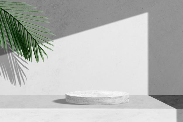 Telón de fondo de productos botánicos, hojas de palma