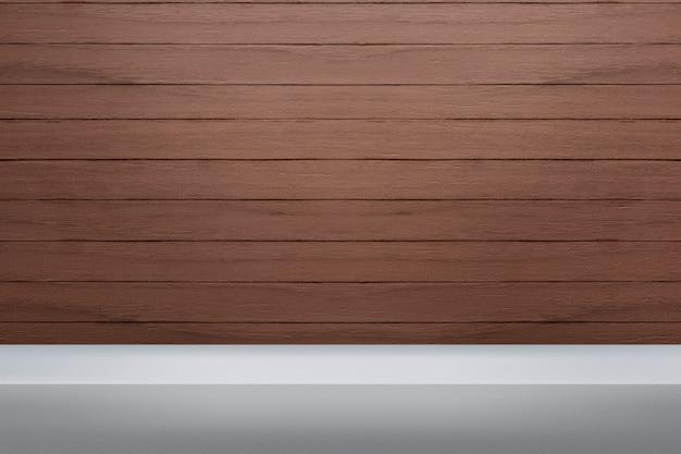 Telón de fondo de productos de madera con espacio en blanco