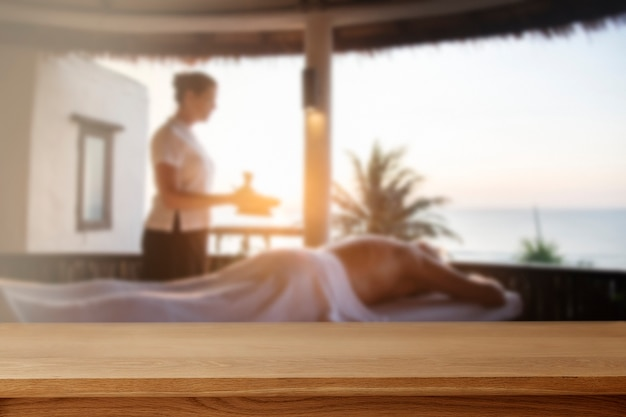 Telón de fondo de productos de spa con terapia de masaje