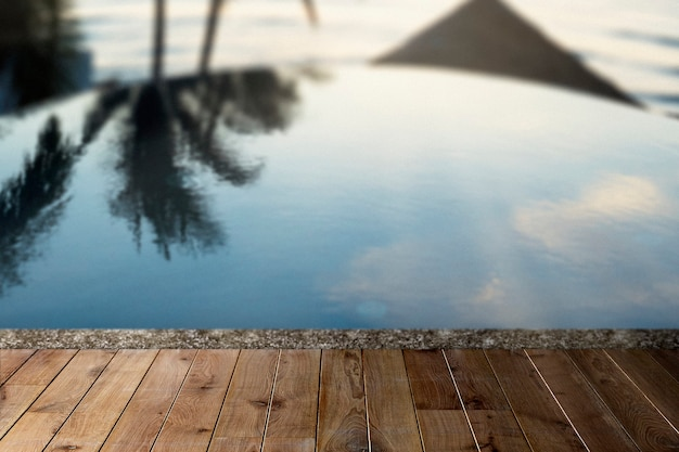 Telón de fondo de productos de verano, piscina