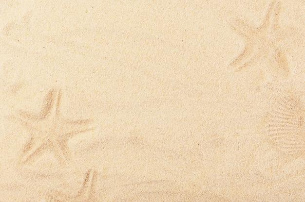 Telón de fondo de verano cálido con cuadros de arena pintados.