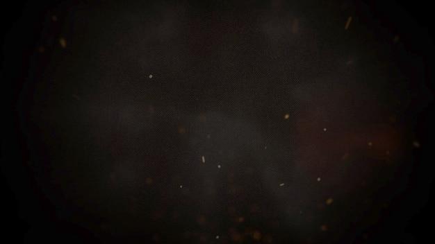 Tema cinematográfico con humo con partículas y fondo oscuro.