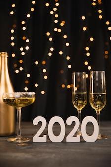 Tema dorado en la fiesta de año nuevo