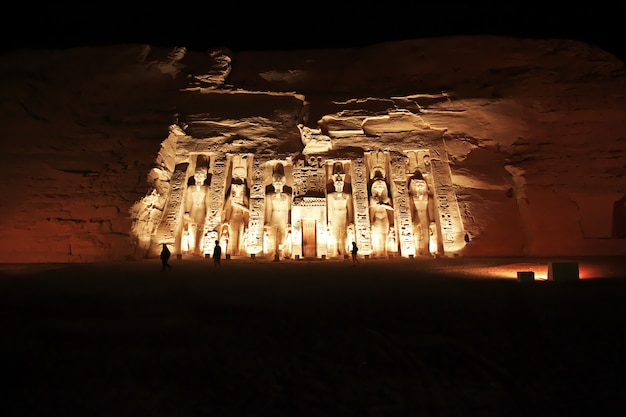 Templo en abu simbel, egipto