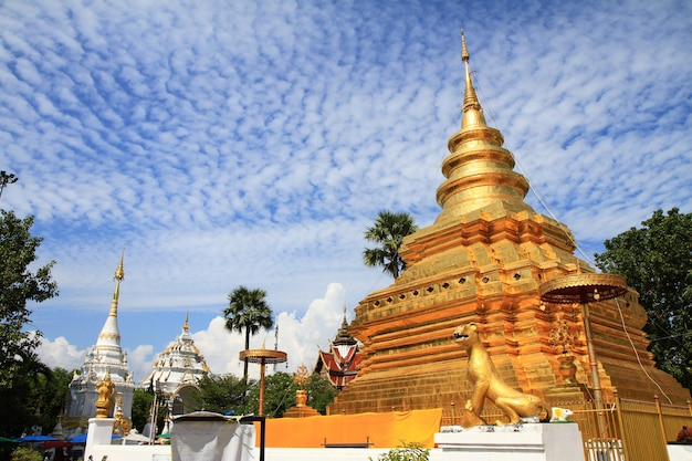 Templo budista de wat phra that sri chom thong.
