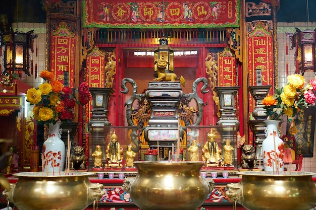 Templo chino decorado