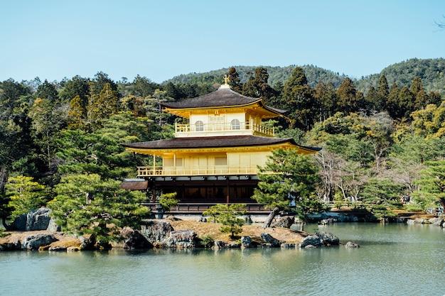 Templo de gingakuji de oro en kioto, japón