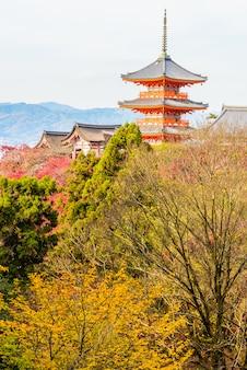 Templo de kiyomizu dera en kyoto en japón