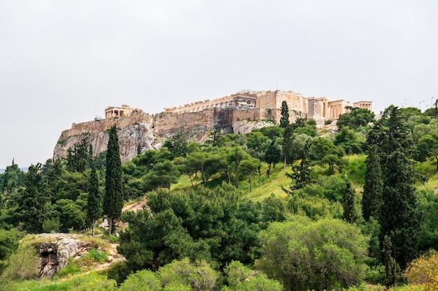 Templo del partenón en la acrópolis de atenas