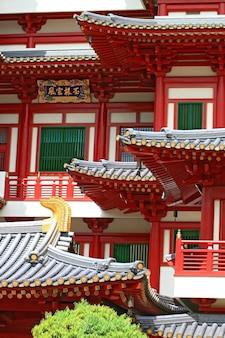 Templo de la reliquia del diente de buda en china town singapore,
