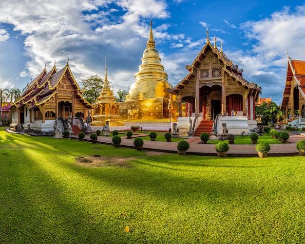 Templo de wat phra sing en la provincia de chiang mai, tailandia