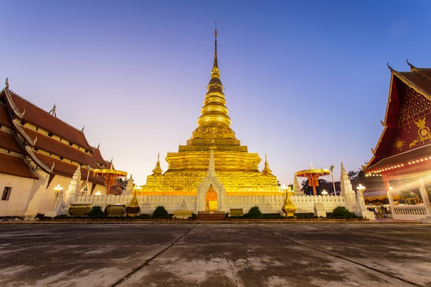 Templo de wat phra that chae haeng