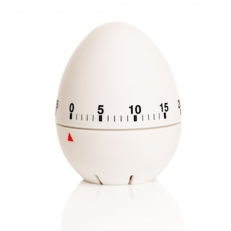 Temporizador blanco en forma de huevo