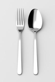Tenedor y cuchara cubiertos