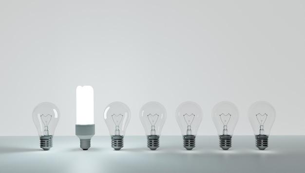 Tengo una idea y quiero protegerla. patentar una idea. eureka, tengo una idea. símbolo de bombilla relacionado con una idea. la bombilla se encendió. fondo blanco.