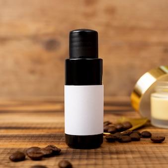 Terapia de spa con aceite y granos de café.