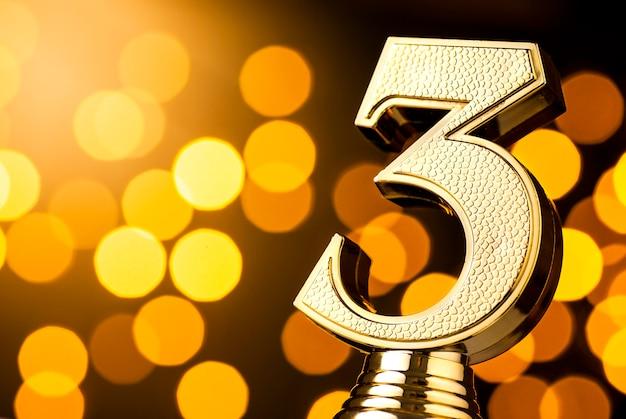 Tercer clasificado, premio trofeo de oro