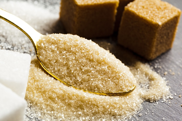 De terrones de azúcar