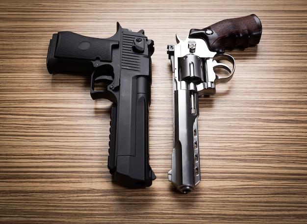 Terrorismo pistolas. de cerca.