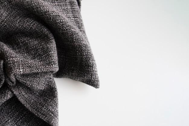 Textil de primer plano con espacio de copia