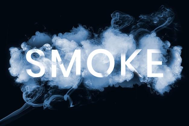 Texto de humo en fuente de humo