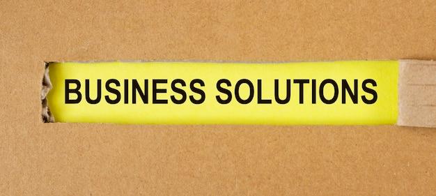 Texto de soluciones empresariales. concepto de consulta y resolución de problemas.