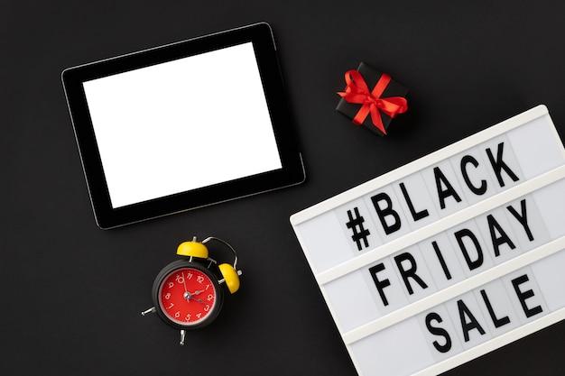 Texto de venta de viernes negro en lightbox
