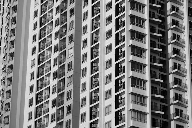 Textura abstracta del fondo de la arquitectura del edificio de la ventana