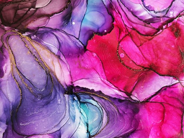 Textura abstracta de tinta de alcohol, parte de la pintura original