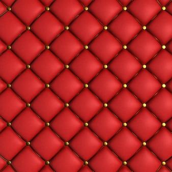 Textura acolchada roja