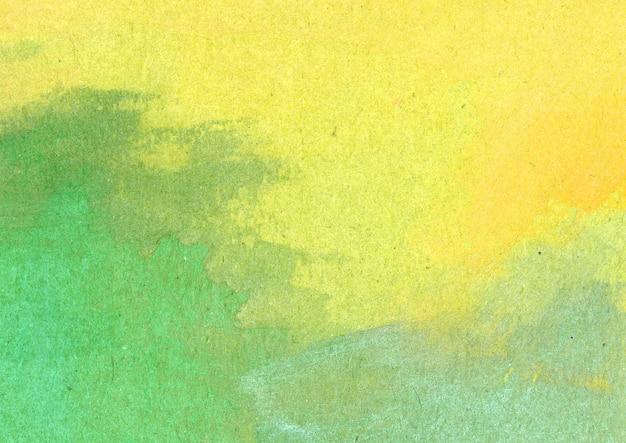 Textura de acuarela amarilla y verde