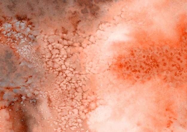 Textura de acuarela marrón y roja