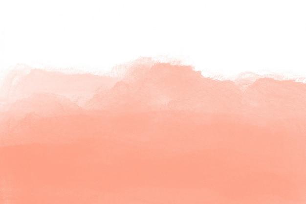 Textura de acuarela de melocotón con fondo blanco