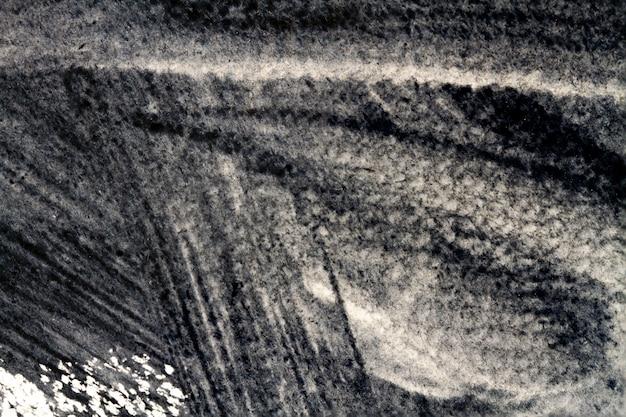 Textura de acuarela negra sobre blanco