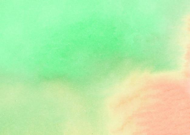 Textura de acuarela verde y naranja