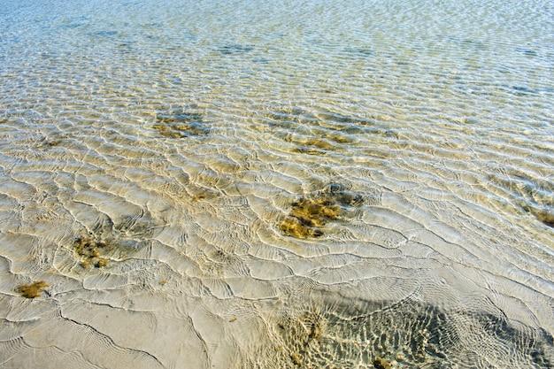 Textura de agua de arena de mar