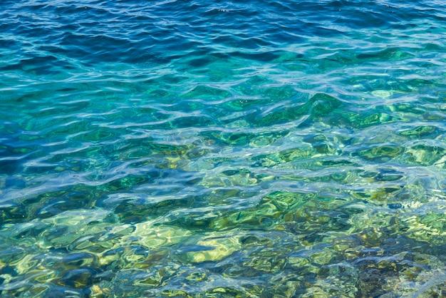 Textura de agua de mar azul fresco